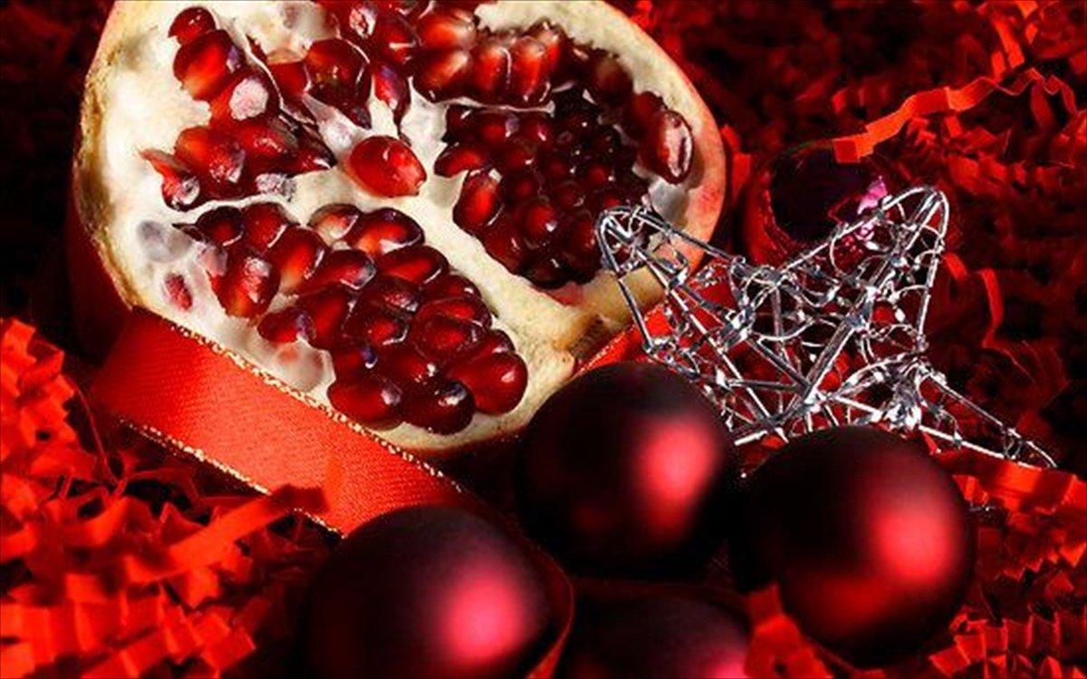 σπάσιμο ροδιού γούρι έθιμο ελλάδα χριστούγεννα