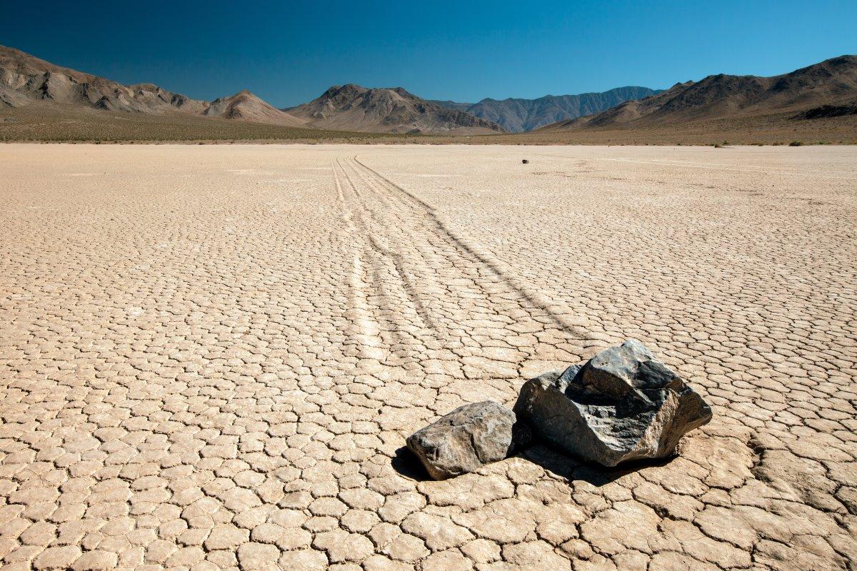 Οι μετακινούμενες πέτρες, ΗΠΑ στο Εθνικό Πάρκο των ΗΠΑ Death Valley
