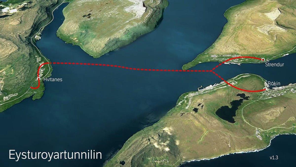 Το σημείο κατασκευής της υποβρύχιας σήραγγας
