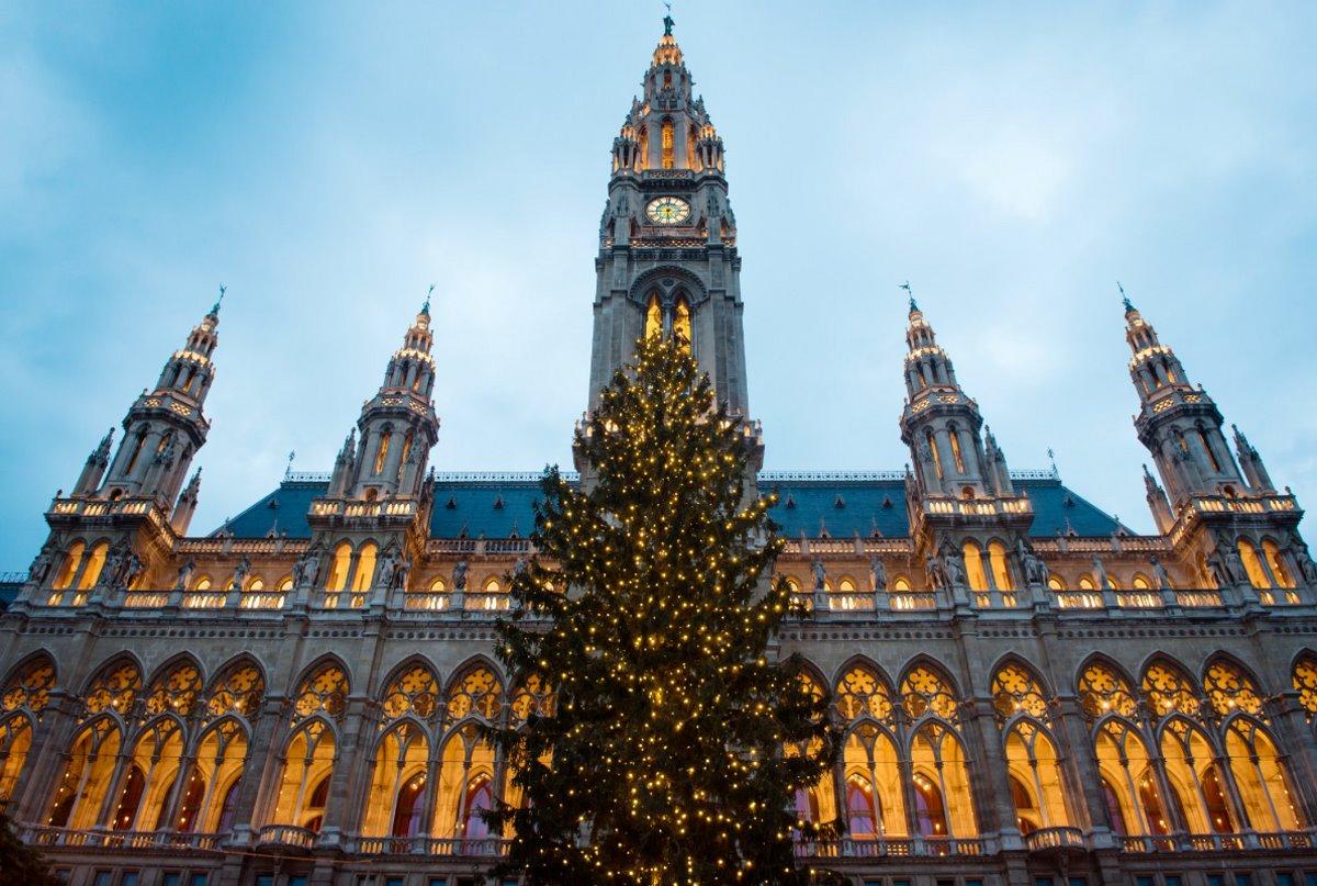 χριστουγεννιάτικο δέντρο βιέννη