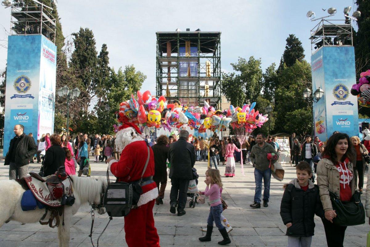 Χριστουγεννιάτικο δέντρο αθήνα 2012