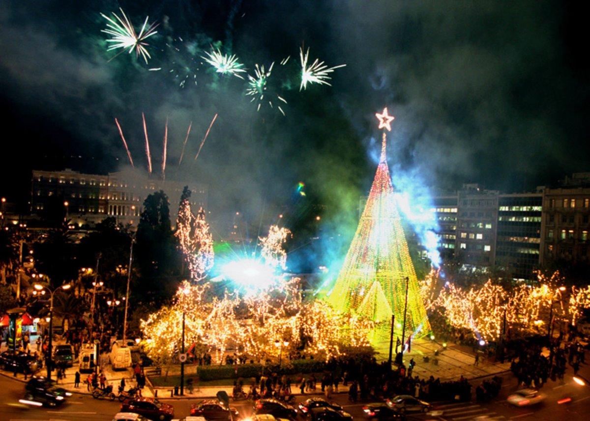 Χριστουγεννιάτικο δέντρο αθήνα 2003
