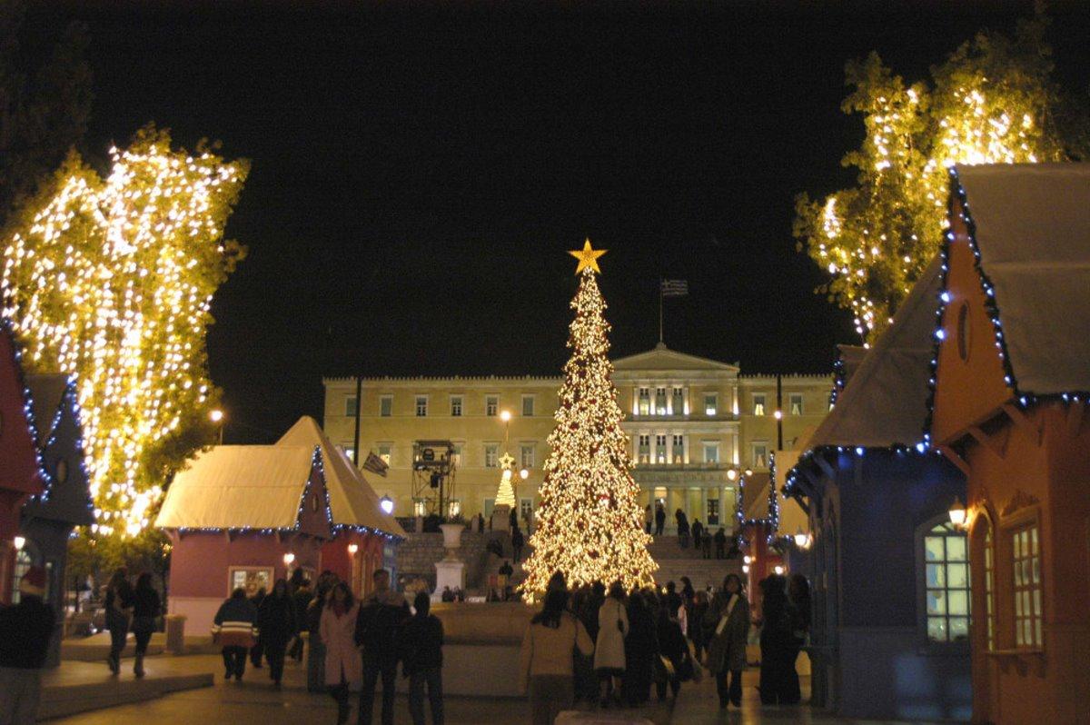 Χριστουγεννιάτικο δέντρο αθήνα 2006