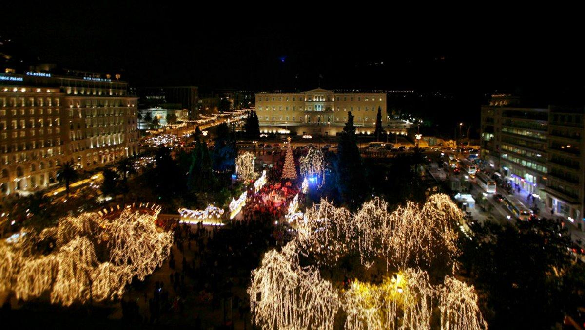 Χριστουγεννιάτικο δέντρο αθήνα 2007