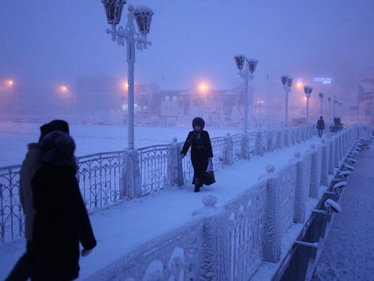 δύσκολη η ζωή στην πιο κρύα πόλη στο Yakutsk Σιβηρία