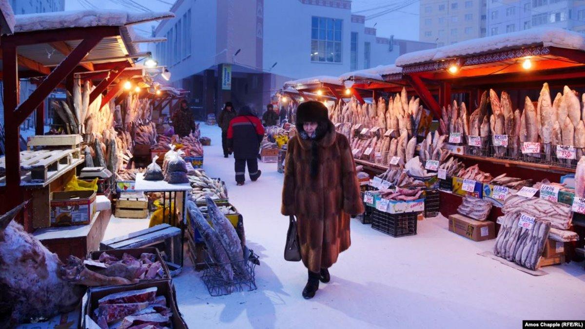 Χριστούγεννα 2021 στο Yakutsk αγορά ψαριών
