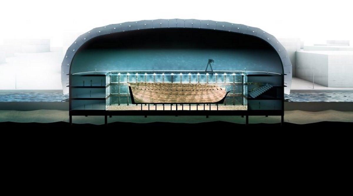 Υποβρύχιο Μουσείο Ολλανδία γύρω από ναυάγιο
