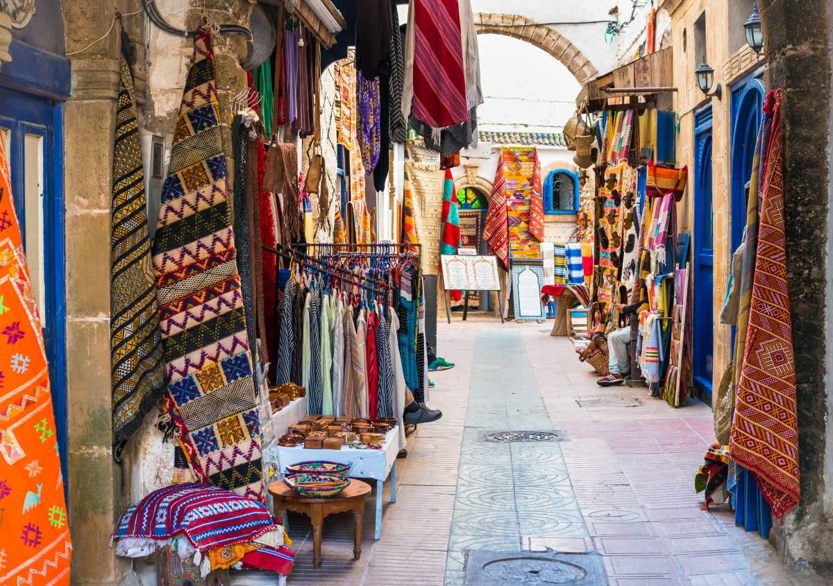 Εσαουίρα, Μαρόκo,  παζάρι