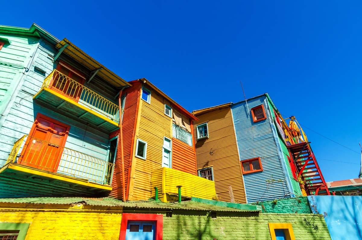 La Boca, Μπουένος Άιρες, πολύχρωμα σπίτια