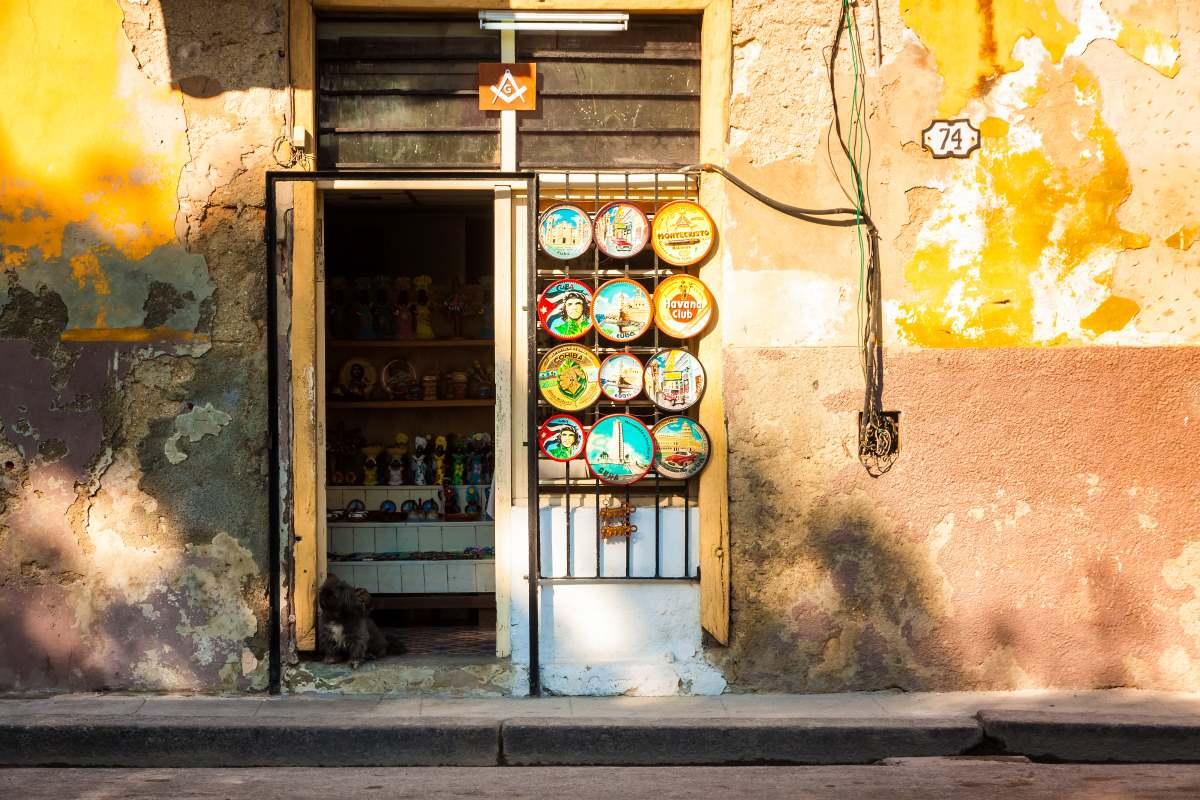 Μαγαζί με σουβενιρ Κούβα Αβάνα