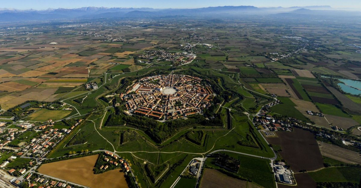 Palmanova Ιταλία πανοραμική