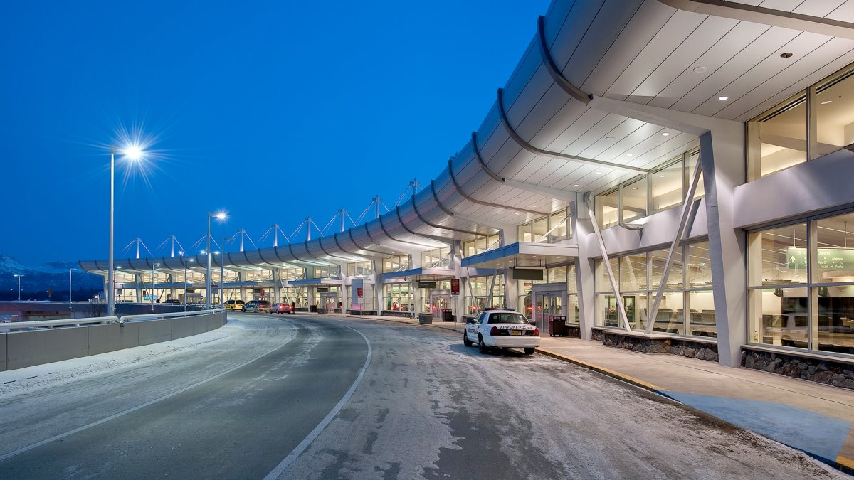 Anchorage αεροδρόμιο Αλάσκα πολυσύχναστο