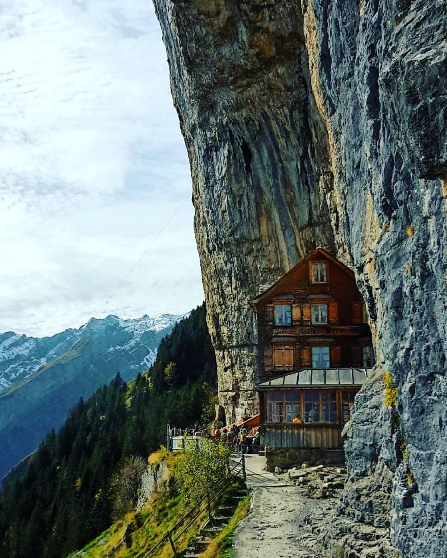 ξενοδοχείο Aescher Ελβετία ξύλινο σαλέ