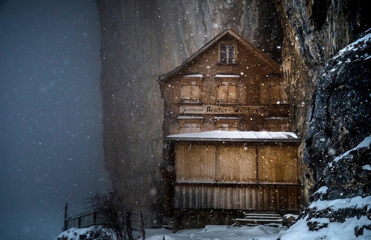 ξενοδοχείο Aescher Ελβετία χιονισμένο
