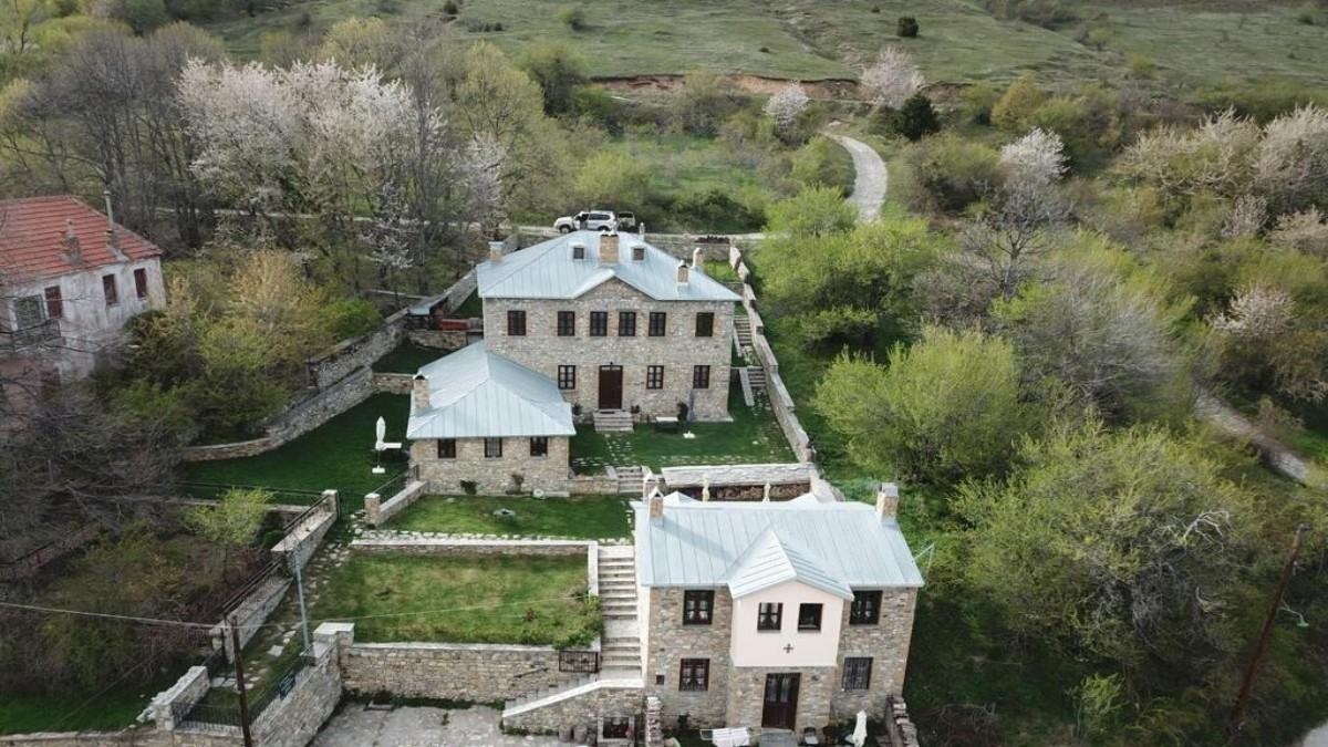 Argyro Guesthouse Νυμφαίο εξωτερικά ο ξενώνας στη Φλώρινα