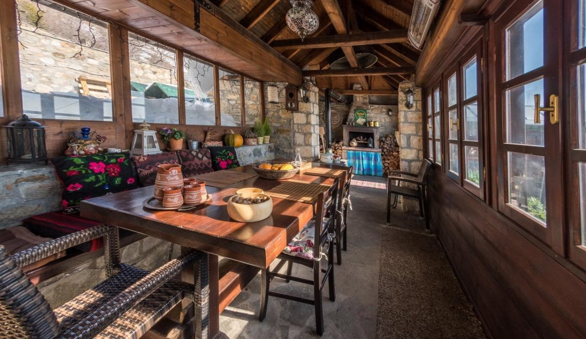 Argyro Guesthouse Νυμφαίο τραπεζαρία