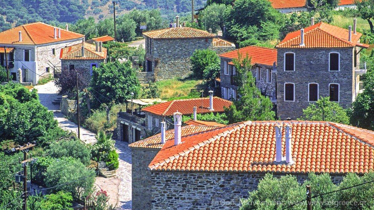 Αρναία Χαλκιδικής πέτρινα σπίτια