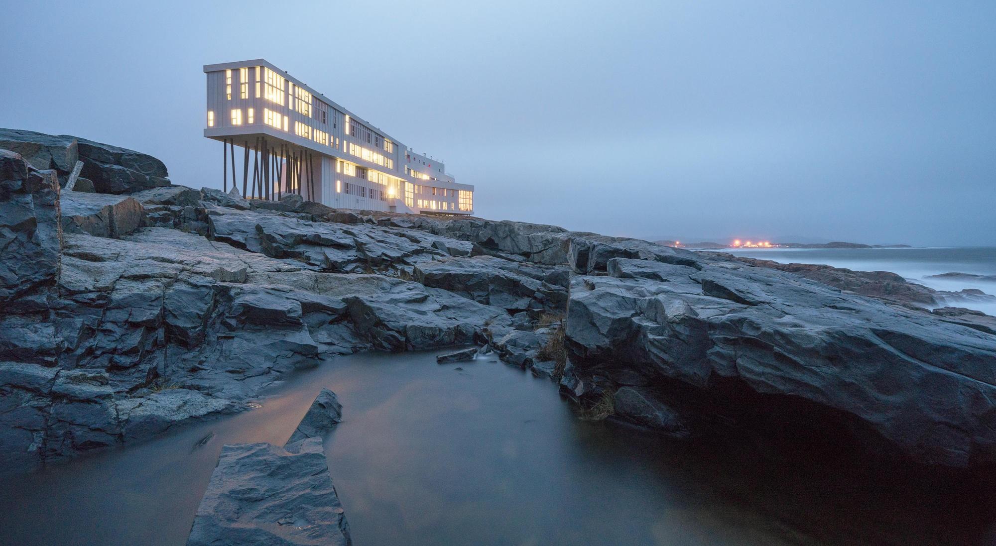 Fogo Island Inn καναδάς πάνω στα βράχια