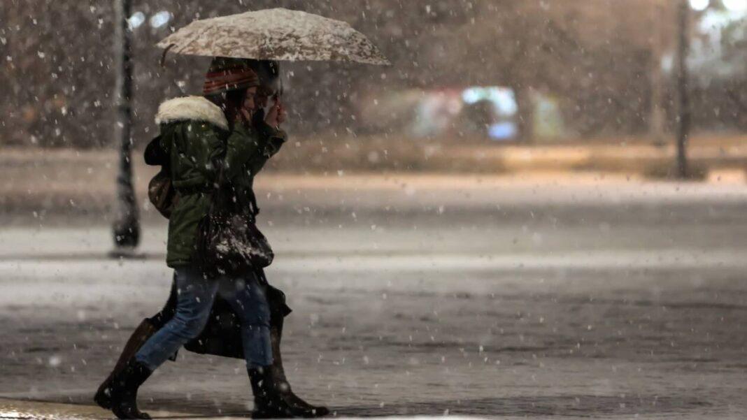 καιρός Ελλάδα βροχές καταιγίδες