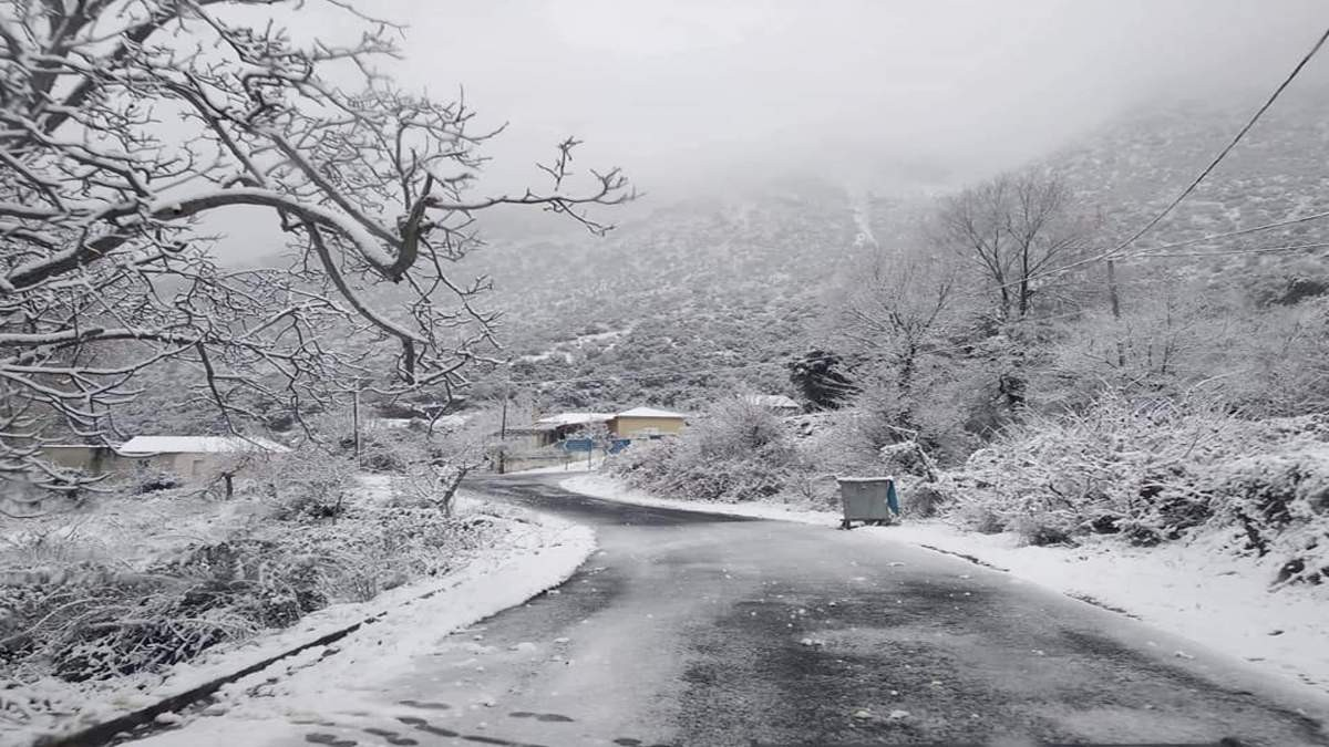 χιόνια κακοκαιρία Αττική