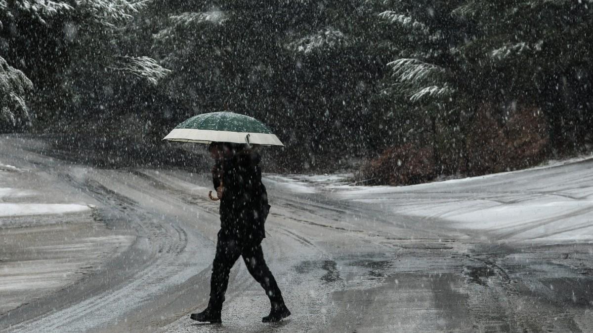 κακοκαιρία χιόνια Αττική