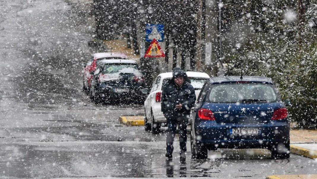 κακοκαιρία Μήδεια χιόνια στην Αττική