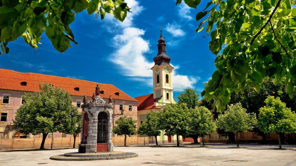Karlovac πόλη σε σχήμα αστεριού στην Κροατία