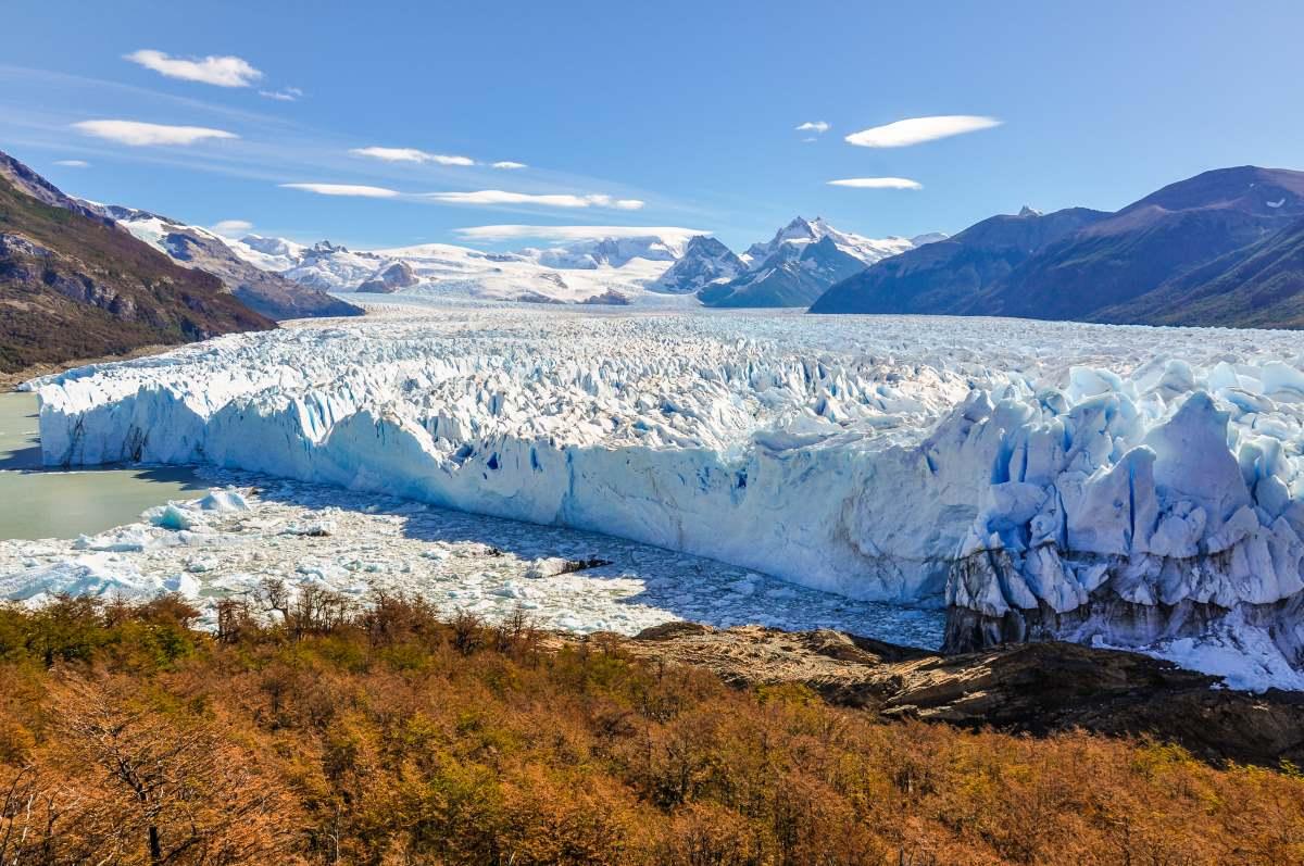 Οι παγετώνες, στο Εθνικό Πάρκο Glaciers