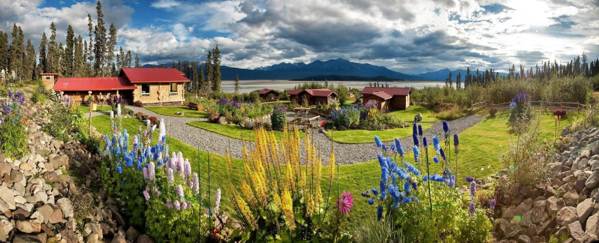 Ultima Thule Lodge στην Αλάσκα εξωτερικά