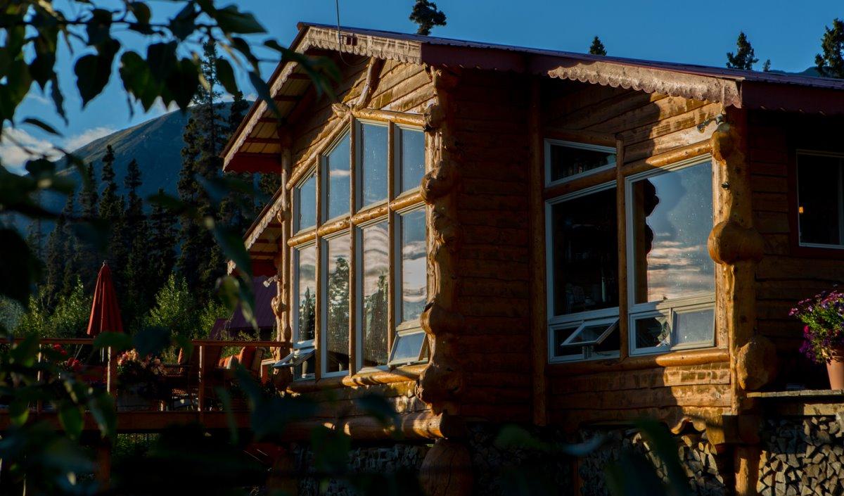 τα σπιτάκια στο Ultima Thule Lodge στην Αλάσκα