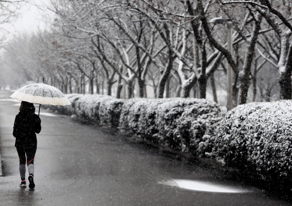 Χιονισμένη Μαδρίτη στον πάγο