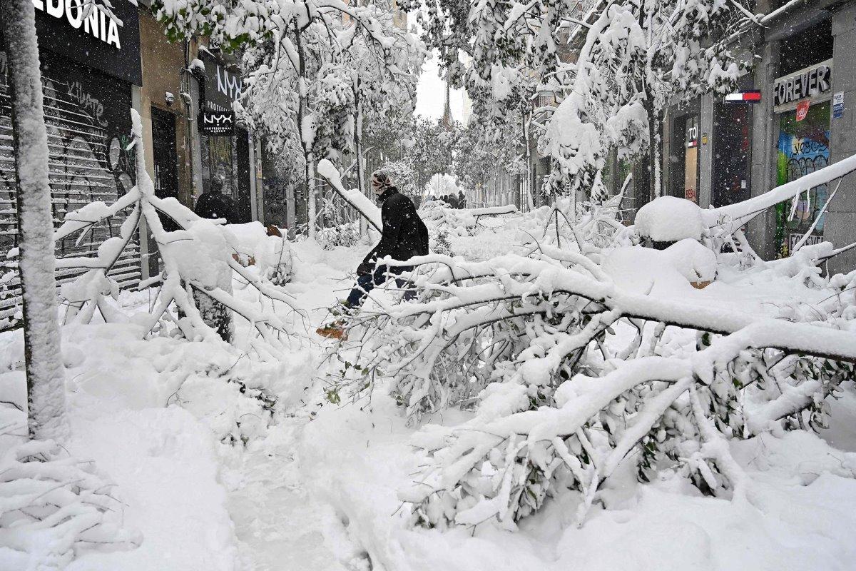 Χιονισμένη Μαδρίτη σφοδρός χιονιάς
