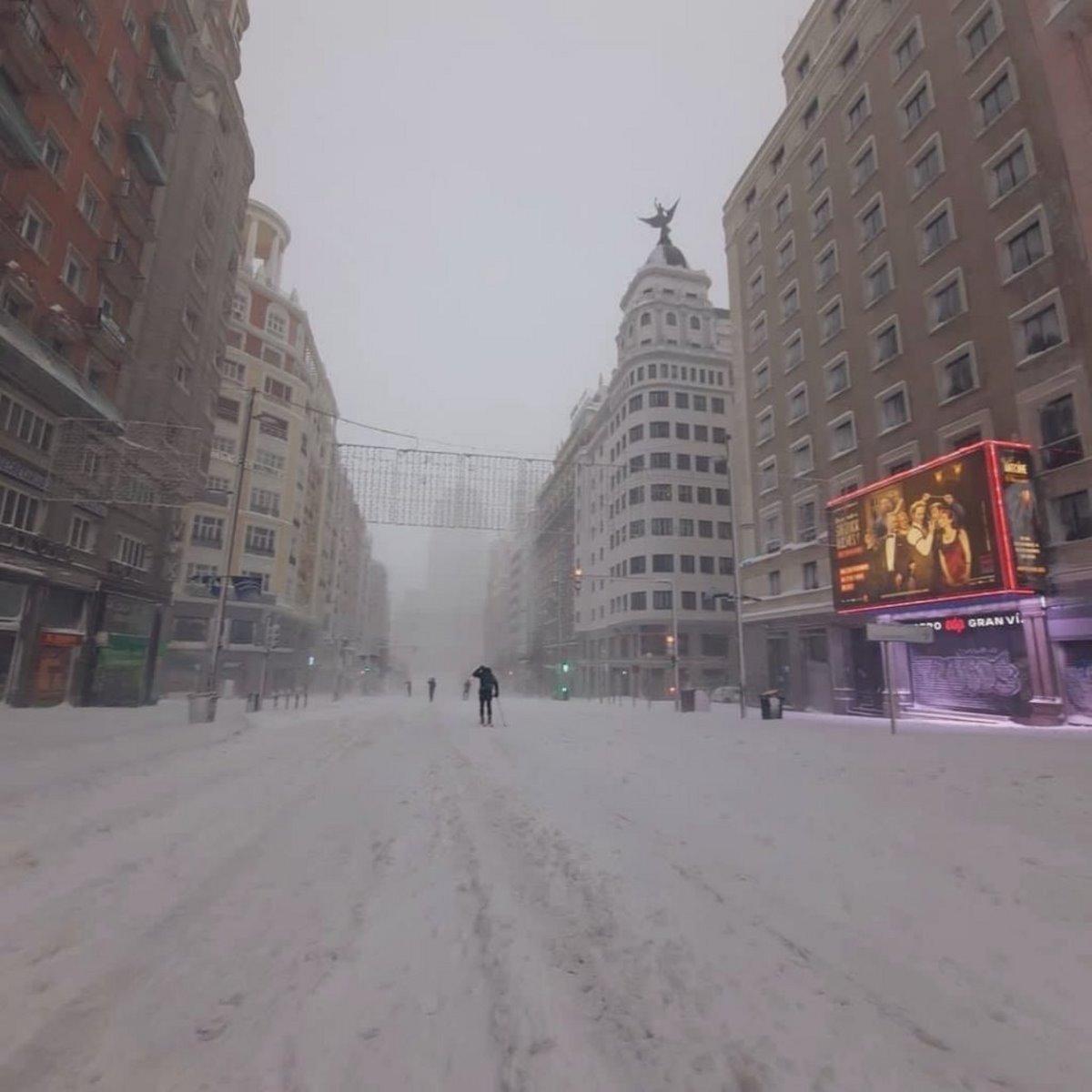 Χιόνια στο κέντρο της Μαδρίτης