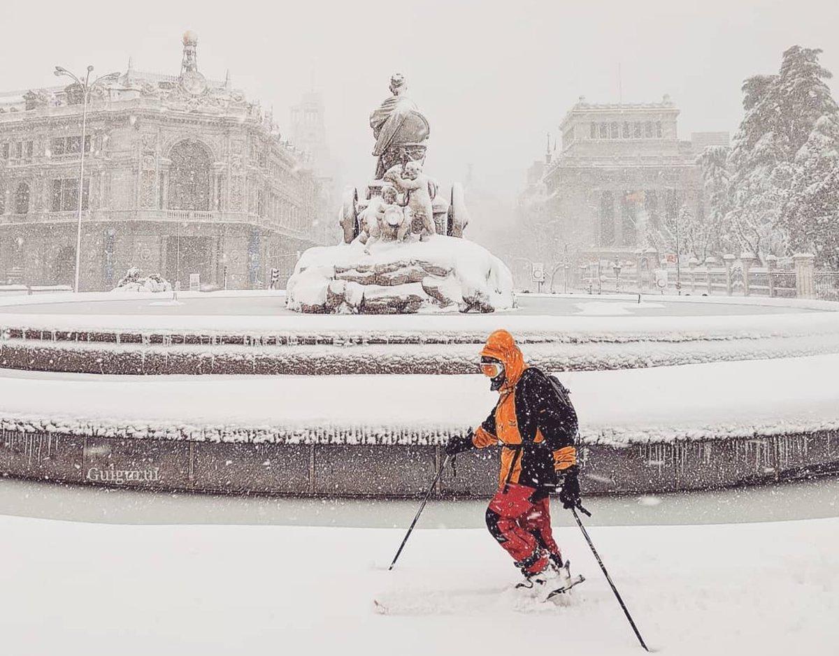 Σφοδρός χιονιάς στη Μαδρίτη