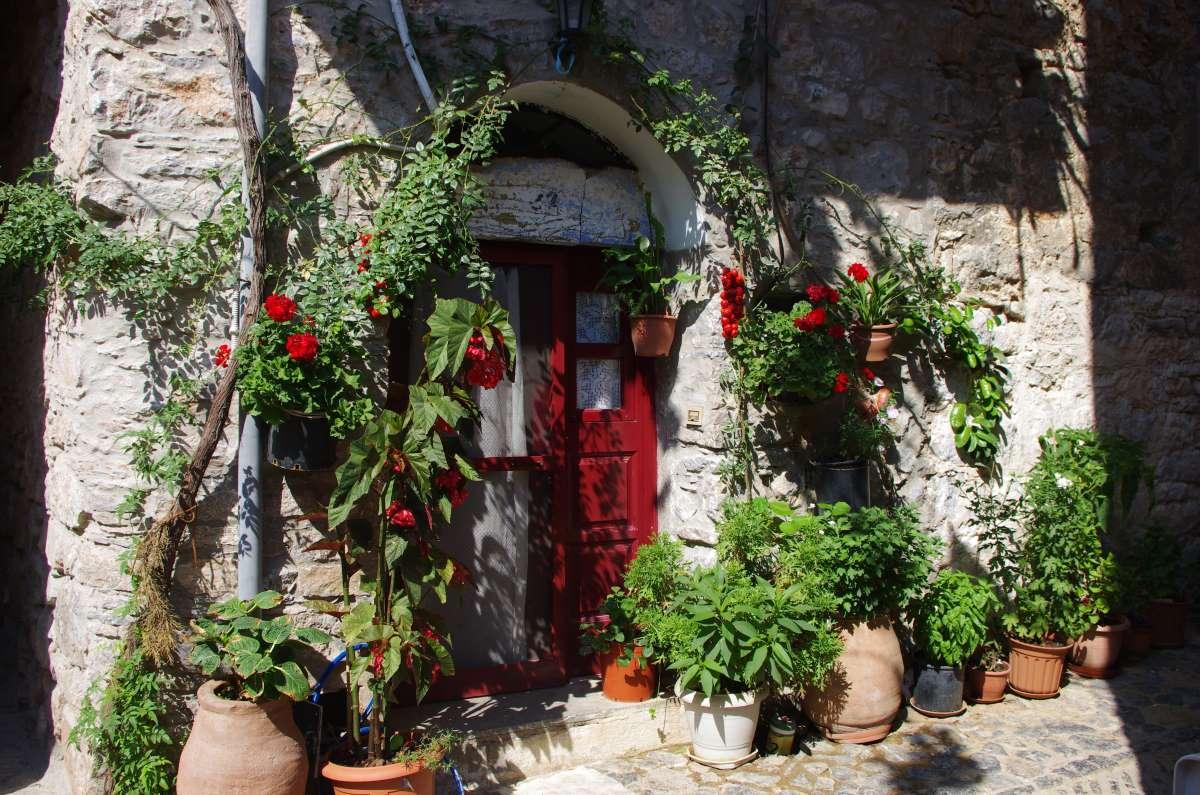 Μεστά Χίου, παραδοσιακό σπίτι στον οικισμό
