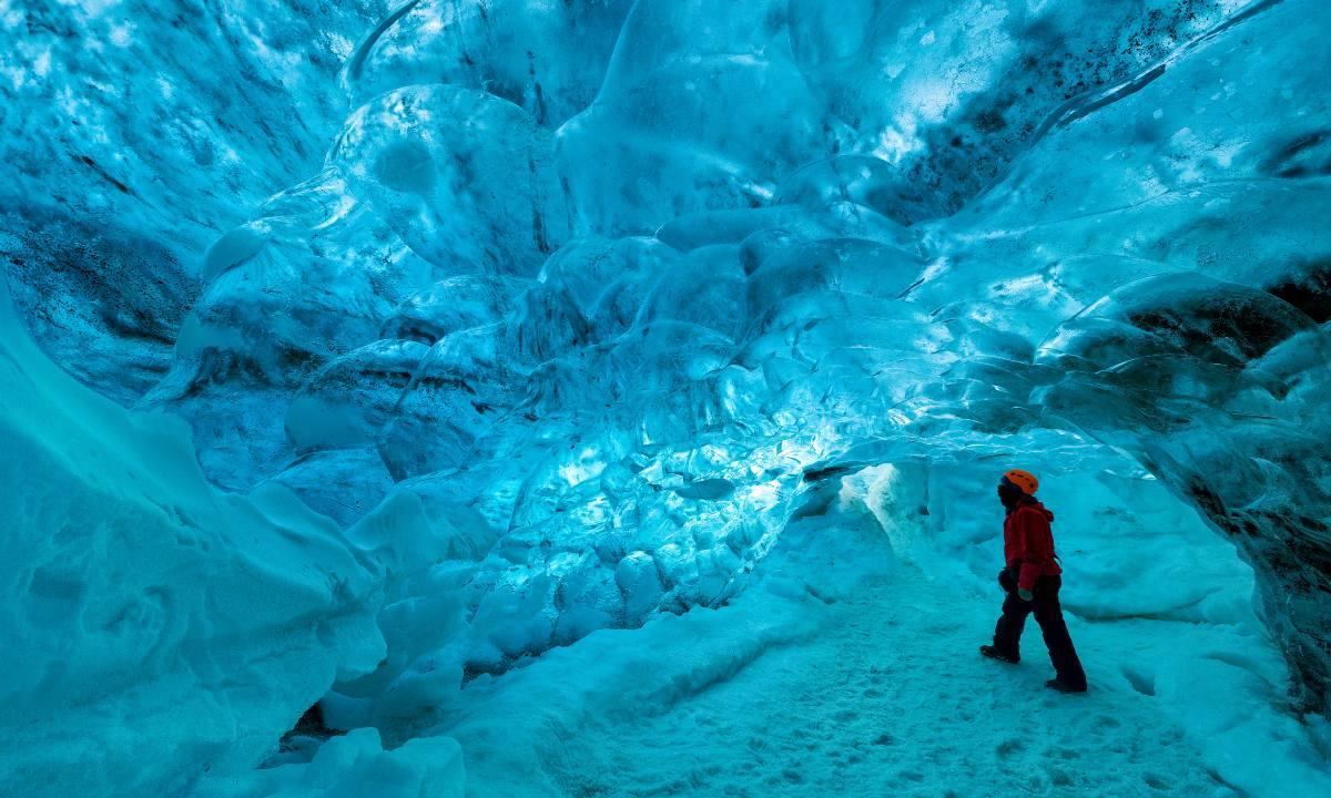 εθνικό πάρκο Vatnajökull, Ισλανδία, μέσα στη σπηλιά