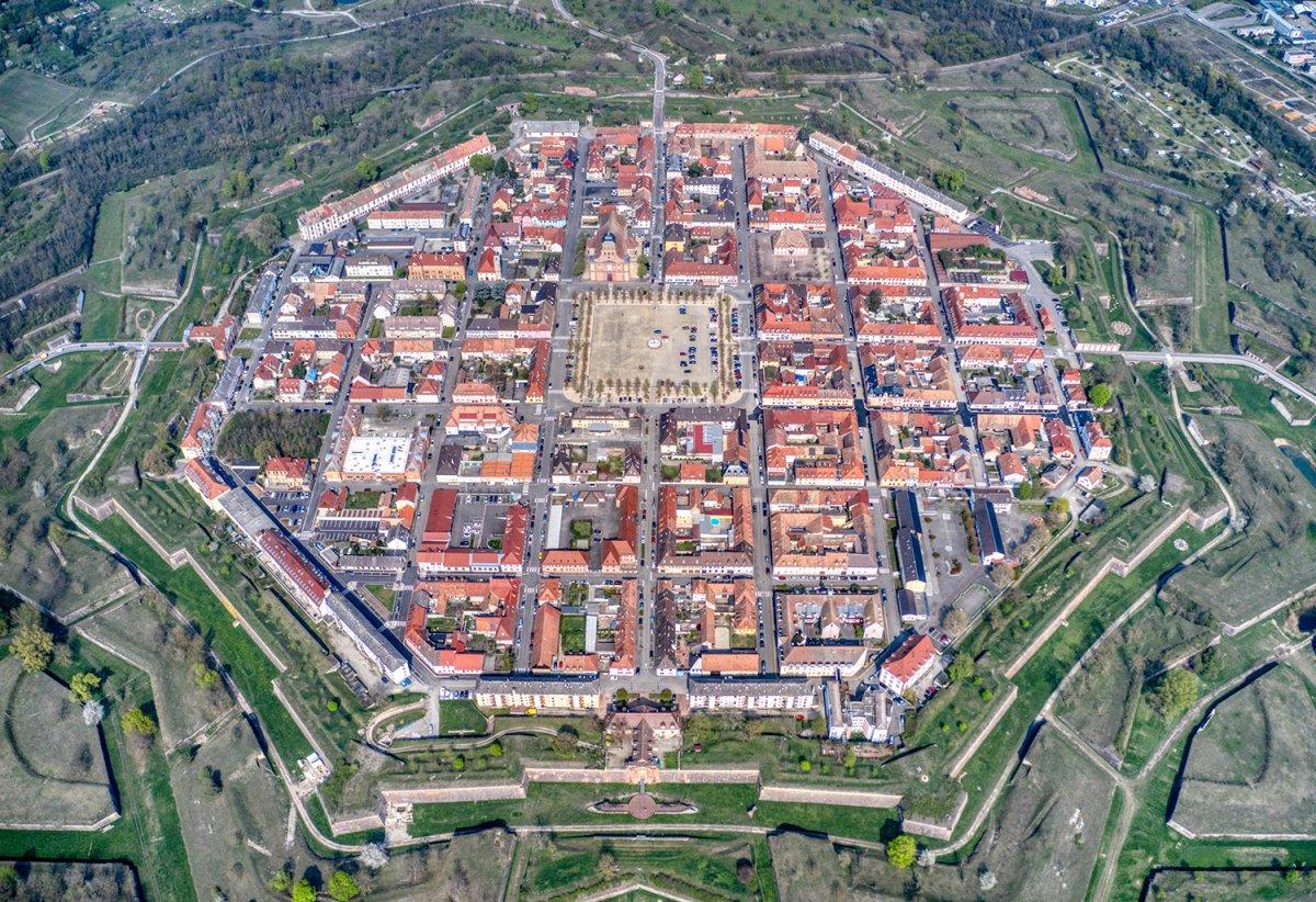 Γαλλία Neuf-Brisach πανοραμική πόλης σε σχήμα αστέρι