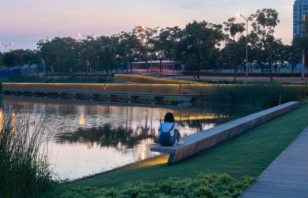 Λίμνες στο πάρκο της Σαγκάης