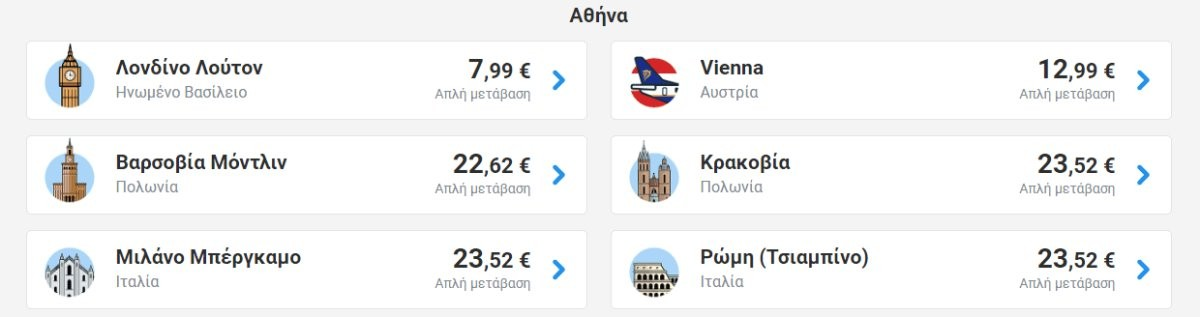 Ryanair προσφορά πτήσεις καλοκαίρι