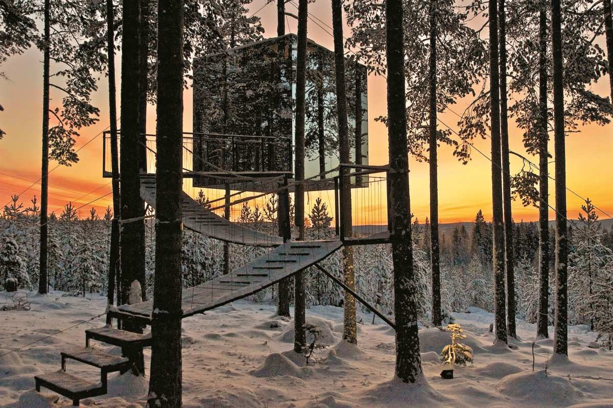 Treehotel, Σουηδία, διαμονή μέσα στη φύση