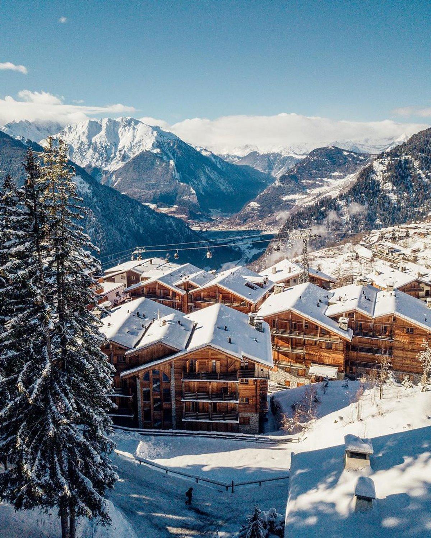 Θέα από το Werbier καλύτερο ski hotel Ελβετία