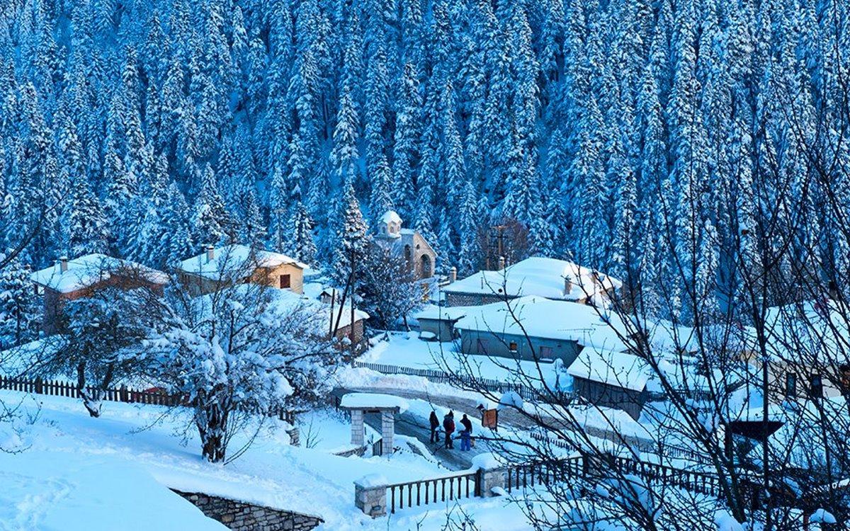 χιόνια στην Ελάτη