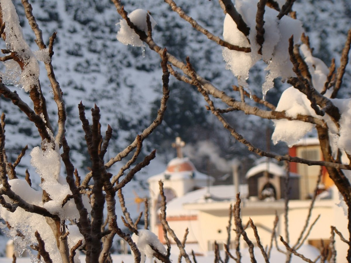 Χιονισμένη Στενή Ευβοίας