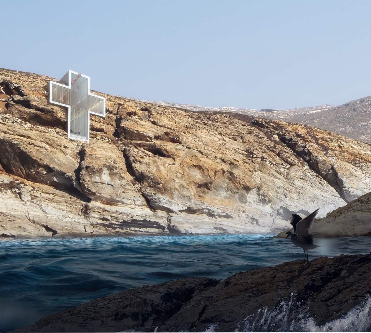 Cliffside Cross-Shaped Church –  Σέριφος