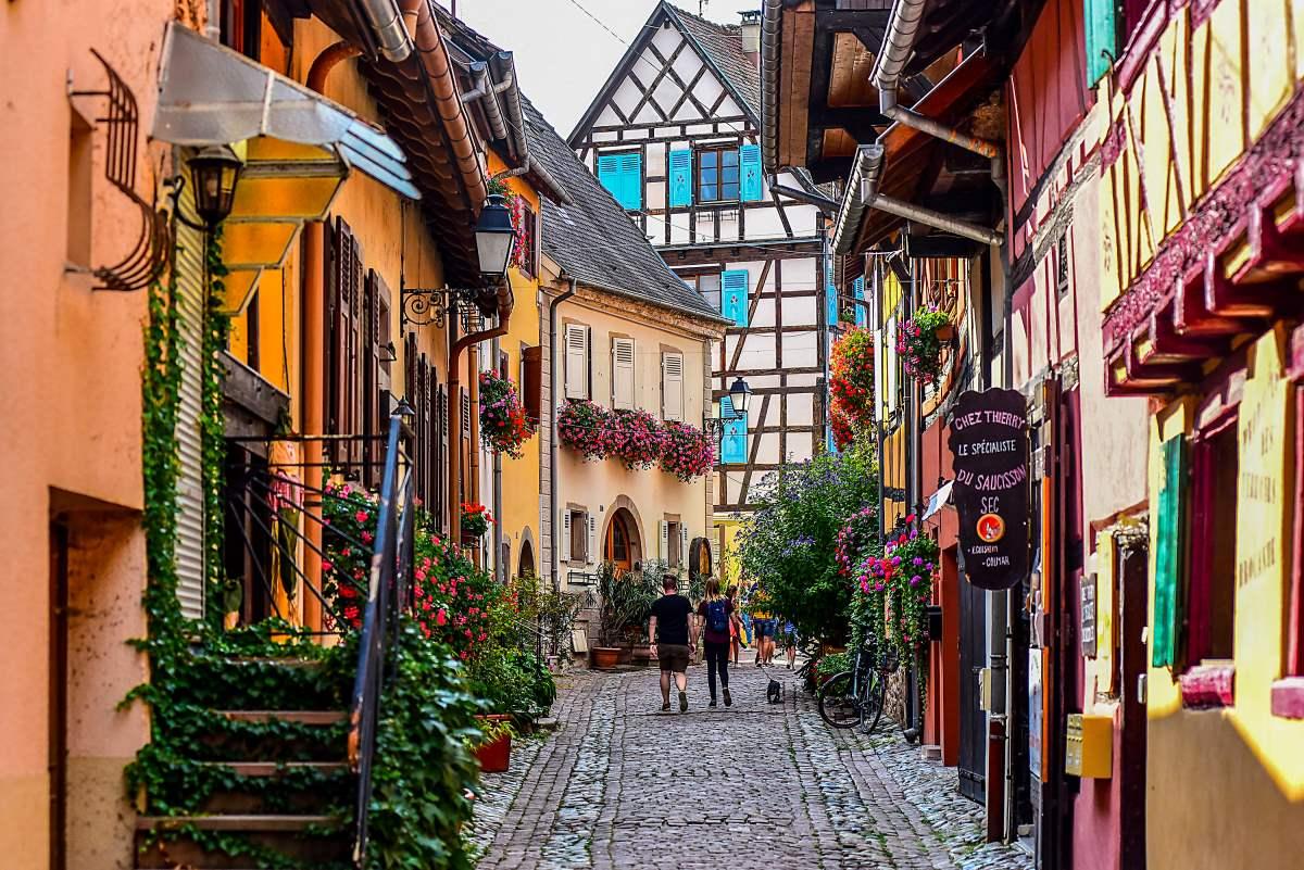 Βόλτα στο Eguisheim, Γαλλία