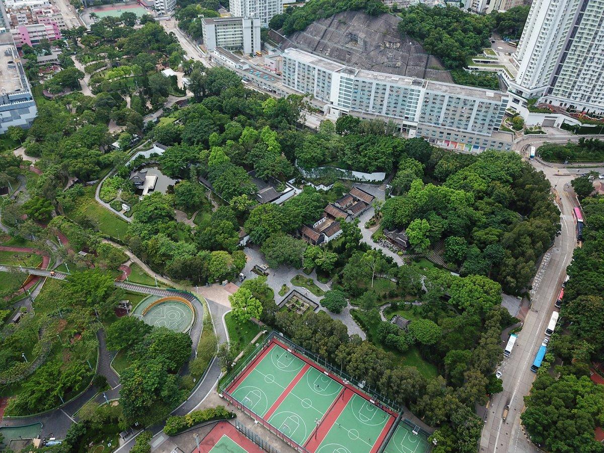 Το πάρκο στη θέση της Kowloon πόλη παρανόμων Κίνα