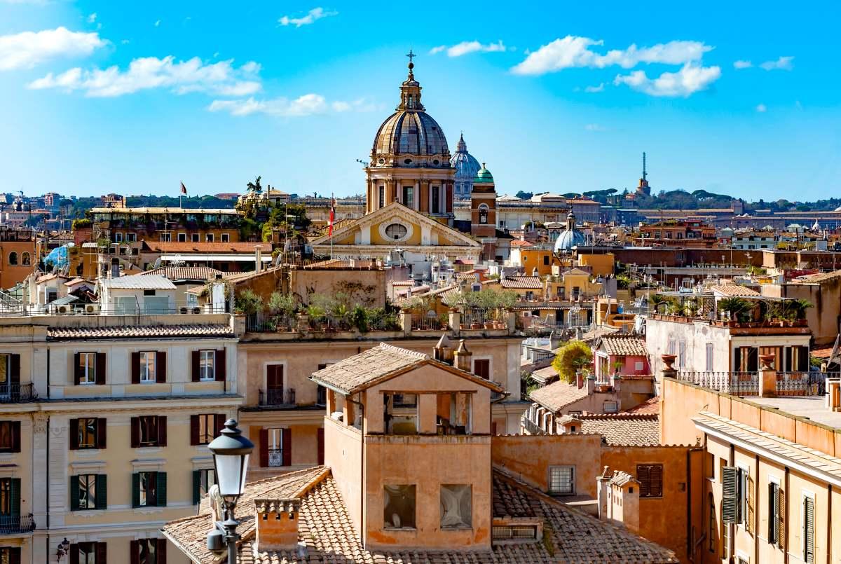 Monti γειτονιά Ρώμη, πανοραμική