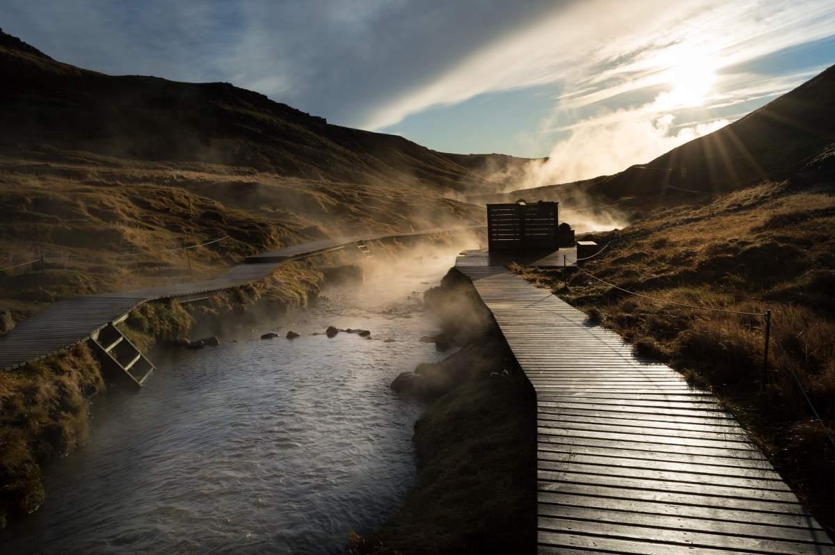Θερμές πηγές Reykjadalur, Ισλανδία