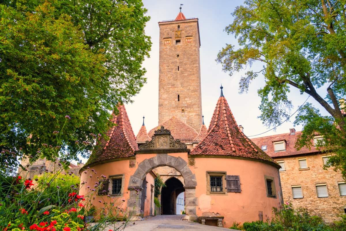 Το κάστρο στο Ρότενμπουργκ, της Βαυαρίας