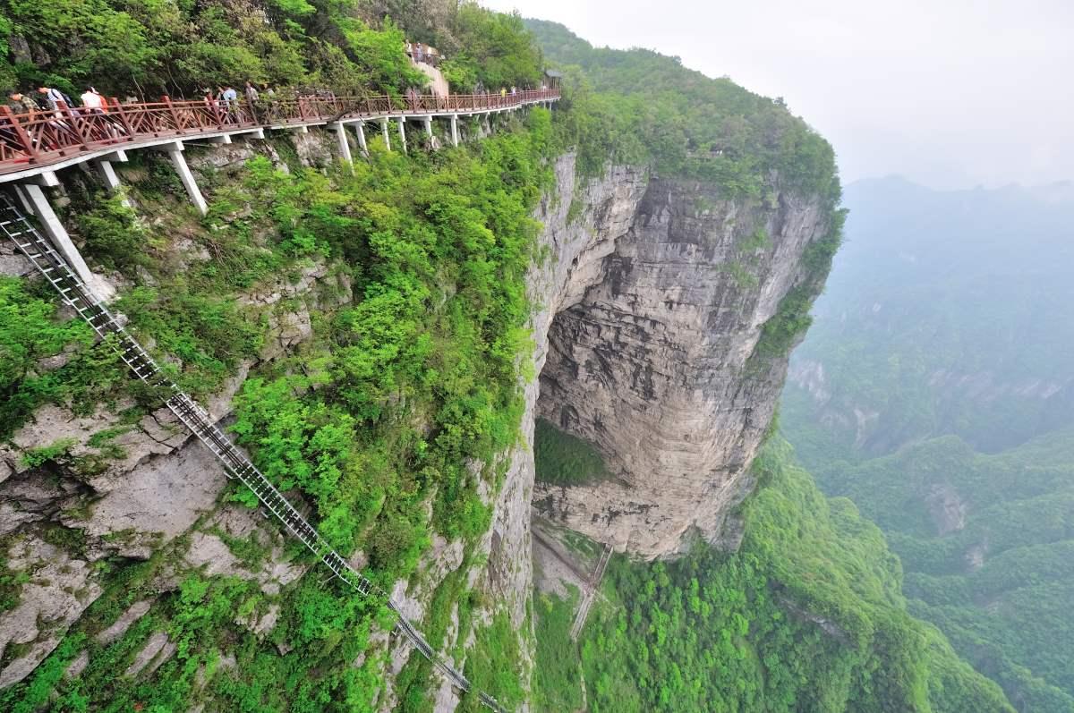 Tianmen Mountain, Κίνα, σκάλα